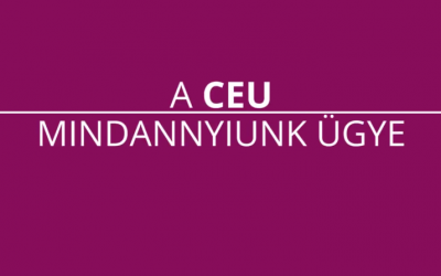 """CEU – """"Ez nem csak az én ügyem, ez mindannyiunk ügye."""""""