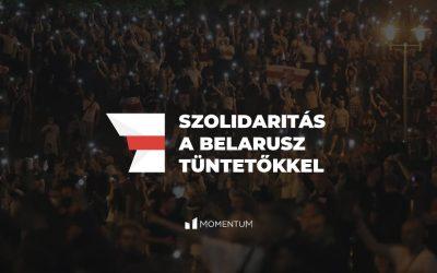 Kiállunk a szabadságukért küzdő fehérorosz tüntetők mellett
