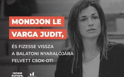 Mondjon le Varga Judit, és fizesse vissza a felvett támogatást