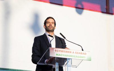 Fekete-Győr András október 23-i beszéde az ellenzék közös rendezvényén